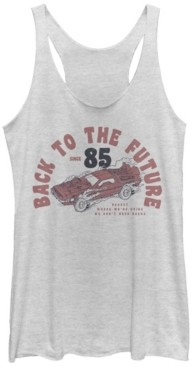 Fifth Sun Back To The Future Retro Delorean Tri-Blend Racer Back Tank