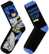 Batman Men's Heroes Never Stop 2 Pairs Of Socks
