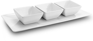Gibson Gracious Dining 4-Piece Tidbit Serving Dish Setwith Tray