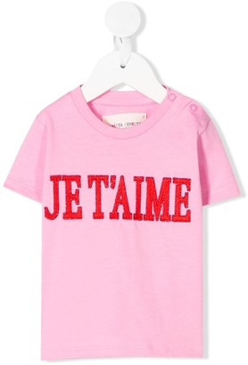 Alberta Ferretti Kids slogan T-shirt
