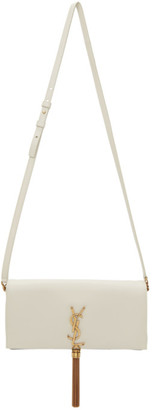 Saint Laurent White Medium Kate 99 Tassel Bag