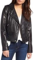 Andrew Marc Women's Wesley Washed Leather Biker Jacket