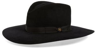 Gladys Tamez Bianca Rabbit Felt Hat