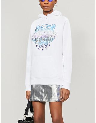 Kenzo Graphic-print cotton-jersey hoody
