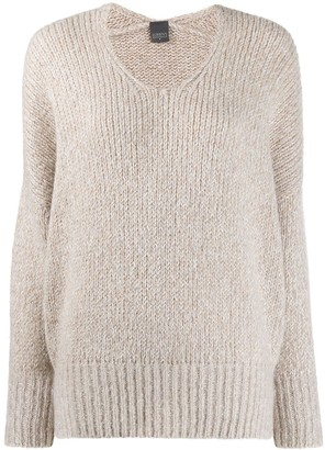 Lorena Antoniazzi Scoop Neck Slouchy Sweater