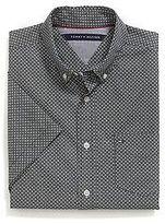Tommy Hilfiger Men's Geo Print Short Sleeve Custom Fit Shirt