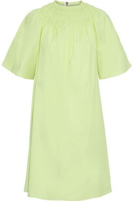 Roksanda Shirred Cotton-poplin Mini Dress