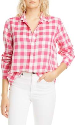 Frank And Eileen Check Linen Button-Up Shirt