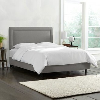 Laurel Foundry Modern Farmhouse Danette Border Upholstered Standard Bed Size: Twin, Color: Gray