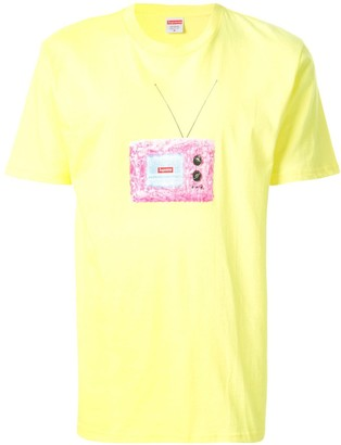 Supreme tv print T-shirt