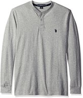 U.S. Polo Assn. Men's Long Sleeve Solid Henley Knit Shirt