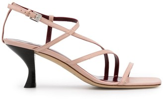 STAUD Strappy Low Heel Sandals
