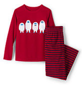 Classic Boys Fleece Sleep Set-Rich Red/Regiment Navy Stripe