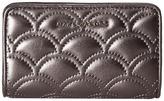 Marc Jacobs Matelasse Metallic Compact Wallet
