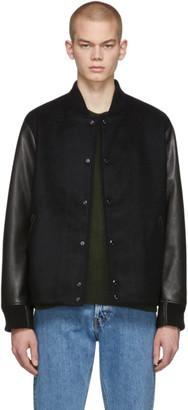 Rag & Bone Black Boulder Bomber Jacket