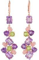 Catherine Malandrino Amethyst, Rose Quartz & Peridot Color Mosaics Drop Earrings