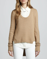 Rachel Zoe Andre Patch Sweater