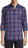 Vince Manhattan Plaid Long-Sleeve Sport Shirt, Rhubarb Combo
