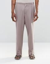 Asos Wide Leg Suit Trouser In Pink
