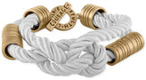 Rachel Roy Gold-Tone White Nylon Cord Toggle Bracelet