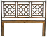 David Francis Furniture Lattice Headboard - Golden Mahogany