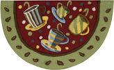 Nourison Coffee Mugs Red Washable Wedge Rug