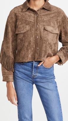 Blank Hot Cocoa Fringe Jacket