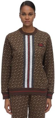 Burberry Tb Monogram Cotton Jersey Sweater
