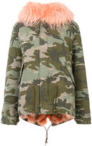 Mr & Mrs Italy - hooded jacket - women - Cotton/Fox Fur/Polyester/Polypropylene - XXS