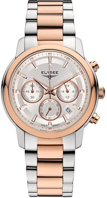 Elysee Unisex Adult Analogue Quartz Watch with Stainless Steel Strap 11018