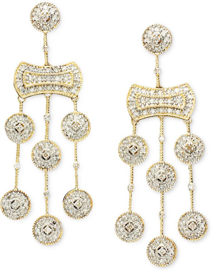 Wrapped in LoveTM Diamond Chandelier Earrings in 14k Gold (1/2 ct. t.w.)