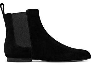 Jil Sander Navy Suede Ankle Boots