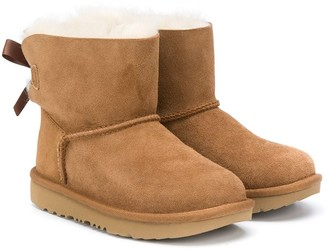 Ugg Kids Shearling Bow-Detail Boots