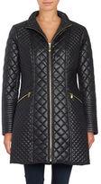 Via Spiga Quilted Zip-Front Coat