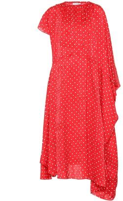 Balenciaga Polka-dot silk midi dress