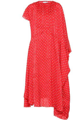 Balenciaga Polka-dot silk midi dress