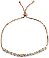 Giani Bernini Cubic Zirconia Oval Adjustable Slider Bracelet in 18k Rose Gold-Plated Sterling Silver, Only at Macy's
