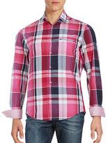BOSS GREEN Cotton Plaid Sport Shirt