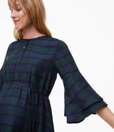 LOFT Maternity Plaid Bell Sleeve Shirtdress