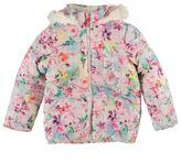 Puffa Kids Junior Girls Fur Hooded Padded Jacket Long Sleeve Full Zip Coat Top