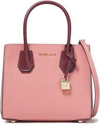 MICHAEL Michael Kors Color-block Pebbled-leather Tote