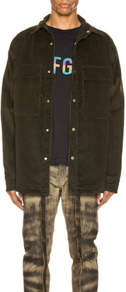 Fear Of God Corduroy Shirt Jacket in Forest Green | FWRD