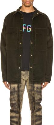 Fear Of God Corduroy Shirt Jacket in Forest Green | FWRD