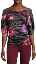 Nicole Miller Women's Falling Flowers Top