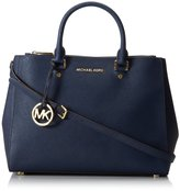 Michael Kors Navy Saffiano Sutton Large Satchel Bag Purse
