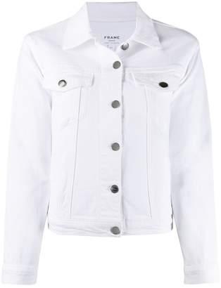 Frame long sleeve fitted denim jacket