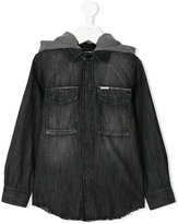 Diesel hooded denim shirt - kids - Cotton - 10 yrs