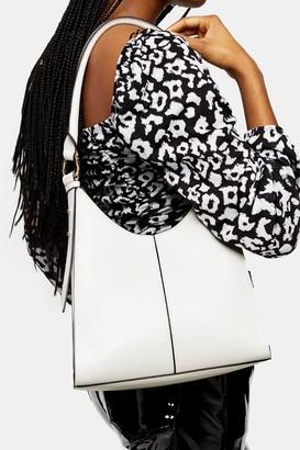 Topshop IVY White Structure Shoulder Bag