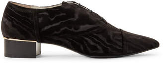 Bruno Magli Black Beatrice Velvet Oxfords