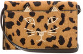 Charlotte Olympia Leopard Print Ponyhair Feline Purse